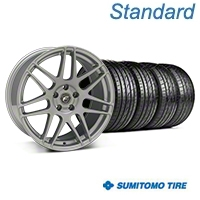 Forgestar F14 Monoblock Silver Wheel & Sumitomo Tire Kit - 19x9 (05-14 All) - Forgestar 29850||63036||KIT