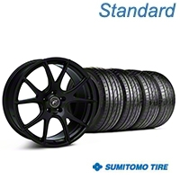 Forgestar CF5V Monoblock Piano Black Wheel & Sumitomo Tire Kit - 19x9 (05-14 All) - Forgestar KIT||63036||29854||mb1