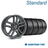 Charcoal Boss Laguna Style Wheel & Sumitomo Tire Kit - 19x9 (05-14 All) - AmericanMuscle Wheels KIT||99220||63036