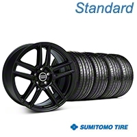 Laguna Seca Style Black Wheel & Sumitomo Tire Kit - 19x9 (05-14 All) - American Muscle Wheels 63036||99222||KIT