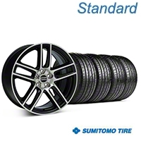 Black Machined Boss Laguna Style Wheel & Sumitomo Tire Kit - 19x9 (05-14 All) - AmericanMuscle Wheels KIT||99224||63036