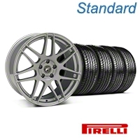 Forgestar F14 Monoblock Silver Wheel & Pirelli Tire Kit - 19x9 (05-14 All) - Forgestar 29850||63101||KIT