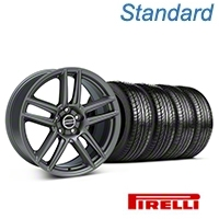 Laguna Seca Style Charcoal Wheel & Pirelli Tire Kit - 19x9 (05-14 All) - American Muscle Wheels 63101||99220||KIT