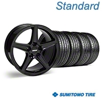 Saleen Style Black Wheel & Sumitomo Tire Kit - 19x8.5 (05-14 GT, V6) - American Muscle Wheels 63036||99259||KIT