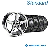 Chrome Saleen Style Wheel & Sumitomo Tire Kit - 19x8.5 (05-14 All) - AmericanMuscle Wheels KIT||99261||63036