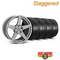 Forgestar Staggered CF5 Monoblock Gunmetal Wheel & Mickey Thompson Tire Kit - 18x9/10 (05-14 All) - Forgestar 29610||29611||79537||79538||KIT