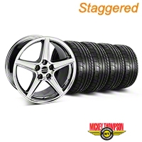 Staggered Saleen Chrome Wheel & Mickey Thompson Tire Kit - 18x9/10 (05-14 All, Excluding GT500) - American Muscle Wheels 28059||28251||79537||79538||KIT