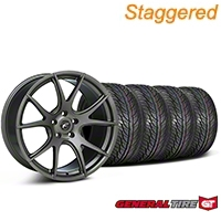 Forgestar Staggered CF5V Monoblock Gunmetal Wheel & General Tire Kit - 19x9/10 (05-14 All) - Forgestar KIT||63106||63107||mb1||29858||29859