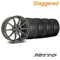 Staggered Gunmetal Forgestar CF10 Monoblock Wheel & NITTO INVO Tire Kit - 19x9/10 (05-14 All) - Forgestar KIT||29848||29849||679520||79521