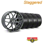 Staggered AMR Charcoal Wheel & Mickey Thompson Tire Kit - 20x8.5/10 (05-14 All) - American Muscle Wheels KIT