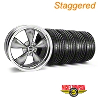 Staggered Deep Dish Bullitt Anthracite Wheel & Mickey Thompson Tire Kit - 20x8.5/10 (05-14 GT, V6) - American Muscle Wheels 28035||28049||79541||79542||KIT