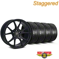 Staggered Matte Black Forgestar CF5V Monoblock Wheel & Mickey Thompson Tire Kit - 19x9/10 (05-14 All)
