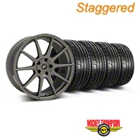 Forgestar Staggered CF10 Monoblock Gunmetal Wheel & Mickey Thompson Tire Kit - 19x9/10 (05-14 All) - Forgestar 29848||29849||79539||79540||KIT