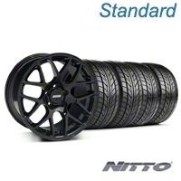Black AMR Style Wheel & NITTO Tire Kit 18x8 (99-04 All) - AmericanMuscle Wheels KIT||33781||76002