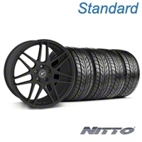 Forgestar F14 Monoblock Textured Black Wheel & NITTO Tire Kit - 18x9 (94-98) - Forgestar KIT||76002||29838