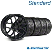 Black AMR Style Wheel & Sumitomo Tire Kit - 18x8 (99-04 All)