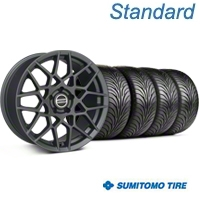 2013 GT500 Style Charcoal Wheel & Sumitomo Tire Kit - 18x9 (94-98 All) - American Muscle Wheels 63005||99368||KIT