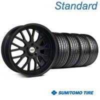 TSW Tremblant Matte Black Wheel & Sumitomo Tire Kit - 19x8.5 (05-14 All) - TSW KIT