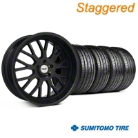 TSW Staggered Tremblant Matte Black Wheel & Sumitomo Tire Kit - 20x8.5/10 (05-13) - TSW KIT||35617||35618||63024