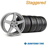 Forgestar Staggered CF5 Monoblock Gunmetal Wheel & Sumitomo Tire Kit - 18x9/10 (99-04 All) - Forgestar 29840||29841||63006||63016||KIT