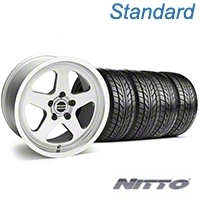 SC Style Silver Wheel & NITTO Tire Kit - 17x9 (94-98 All) - American Muscle Wheels 10093||76012||KIT