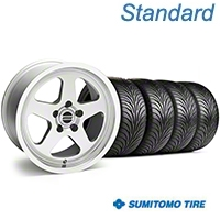 SC Style Silver Wheel & Sumitomo Tire Kit - 17x9 (94-98 All) - American Muscle Wheels 10093||63015||KIT