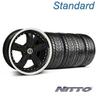 Shelby Razor Black Wheel & NITTO Tire Kit - 18x9 (94-98 All) - Shelby 76002||99226||KIT