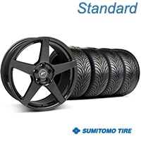 Staggered Forgestar F14 Monoblock Piano Black Wheel & Sumitomo Tire Kit - 18x9/10 (94-98 All) - American Muscle Wheels KIT||63005||29832