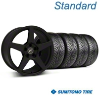 Forgestar CF5 Monoblock Textured Black Wheel & Sumitomo Tire Kit - 18x9 (94-98 All) - Forgestar 29836||63005||KIT