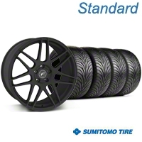 Forgestar F14 Monoblock Textured Black Wheel & Sumitomo Tire Kit - 18x9 (94-98 All) - American Muscle Wheels KIT||63005||29838