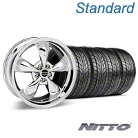 Bullitt Chrome Wheel & NITTO Tire Kit - 18x9 (99-04 All) - American Muscle Wheels KIT