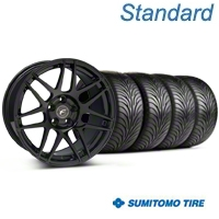 Forgestar F14 Monoblock Piano Black Wheel & Sumitomo Tire Kit - 18x9 (99-04 All) - Forgestar 29834||63016||KIT
