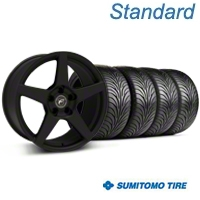 Forgestar CF5 Monoblock Textured Black Wheel & Sumitomo Tire Kit - 18x9 (99-04 All) - Forgestar 29836||63016||KIT