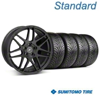 Forgestar F14 Monoblock Textured Black Wheel & Sumitomo Tire Kit - 18x9 (99-04 All) - Forgestar 29838||63016||KIT