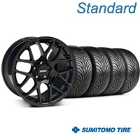 AMR Black Wheel & Sumitomo Tire Kit - 18x9 (99-04 All) - American Muscle Wheels 33782||63008||KIT
