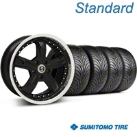 Shelby Razor Black Wheel & Sumitomo Tire Kit - 18x9 (99-04 All) - Shelby 63016||99226||KIT