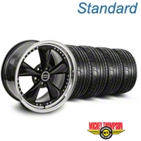 Bullitt Motorsport Black Wheel & Mickey Thompson Tire Kit - 18x9 (05-14 GT, V6) - American Muscle Wheels 10107||79537||KIT