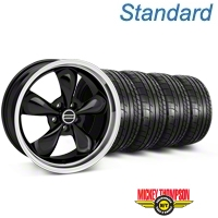 Bullitt Black Wheel & Mickey Thompson Tire Kit - 18x9 (05-14 GT, V6) - American Muscle Wheels 28264||79537||KIT