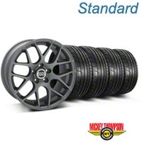 Charcoal AMR Wheel & Mickey Thompson Tire Kit - 18x9 (05-14 All) - AmericanMuscle Wheels KIT||28330||79537