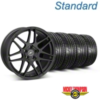 Forgestar F14 Monoblock Matte Black Wheel & Mickey Thompson Tire Kit - 18x9 (05-14 All) - American Muscle Wheels KIT||29606