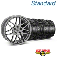 Forgestar F14 Monoblock Gunmetal Wheel & Mickey Thompson Tire Kit - 18x9 (05-14 All) - Forgestar KIT||29614
