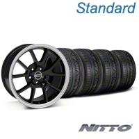 FR500 Black Wheel & NITTO INVO Tire Kit - 18x9 (05-14 All) - American Muscle Wheels 28272||79522||KIT