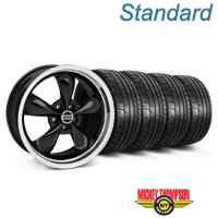 Bullitt Black Wheel & Mickey Thompson Tire Kit - 19x8.5 (05-14 GT, V6) - American Muscle Wheels 28247||79539||KIT