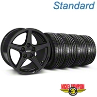 Saleen Style Black Wheel & Mickey Thompson Tire Kit - 19x8.5 (05-14 GT, V6) - American Muscle Wheels 79539||99259||KIT