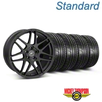 Forgestar F14 Monoblock Matte Black Wheel & Mickey Thompson Tire Kit - 19x9 (05-14 All) - Forgestar 29604||79539||KIT