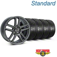 Laguna Seca Style Charcoal Wheel & Mickey Thompson Tire Kit - 19x9 (05-14 All) - American Muscle Wheels 79539||99220||KIT