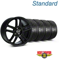 Laguna Seca Style Black Wheel & Mickey Thompson Tire Kit - 19x9 (05-14 All) - American Muscle Wheels 79539||99222||KIT