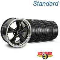Bullitt Motorsport Black Wheel & Mickey Thompson Tire Kit - 20x8.5 (05-14 V6; 05-10 GT) - American Muscle Wheels 10084||79541||KIT