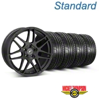 Forgestar F14 Monoblock Matte Black Wheel & Mickey Thompson Tire Kit - 20x9 (05-14) - American Muscle Wheels KIT||29628
