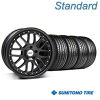 TSW Valencia Matte Black Wheel & Sumitomo Tire Kit - 20x8.5 (05-14) - American Muscle Wheels KIT||33615